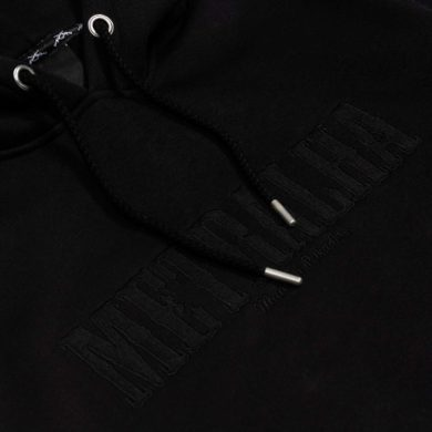 battle hoodie full black embroidery