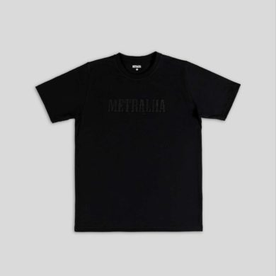 battle t-shirt black black embroidery logo