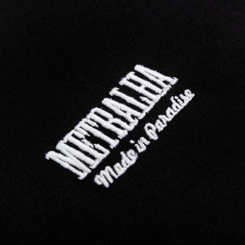 golden classics t-shirt black white logo detail