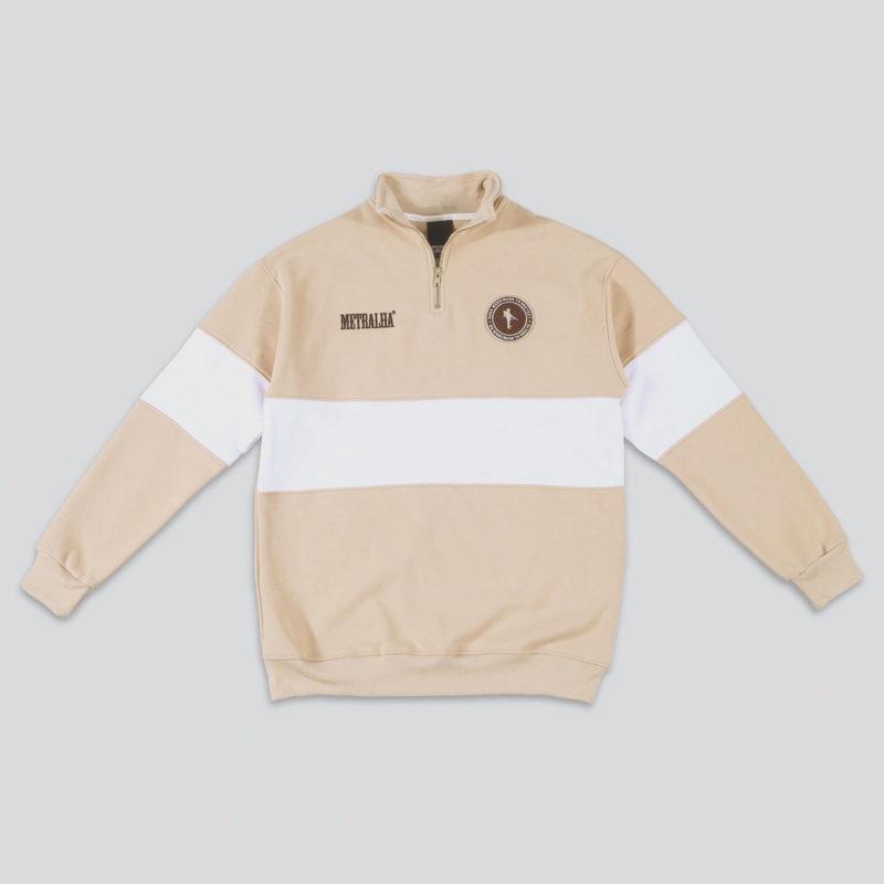 metralha-worldwide-sweat-zip-camel-white