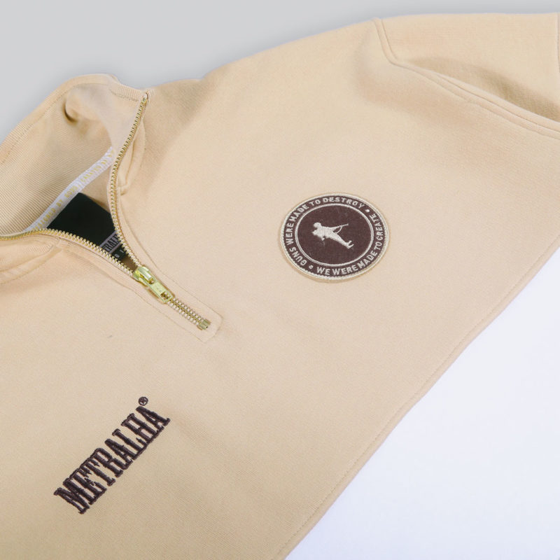 metralha-worldwide-zip-sweat-white-camel