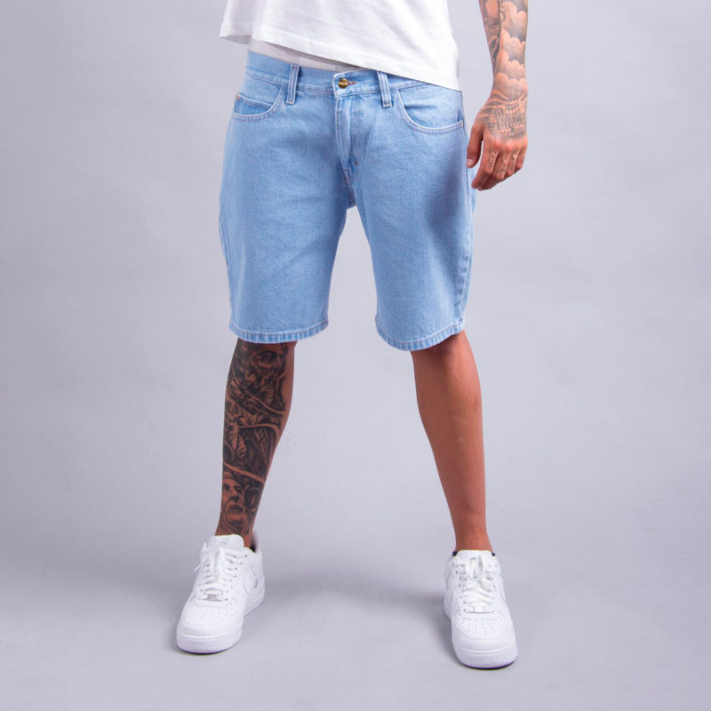 metralha worldwide shorts light blue denim online store