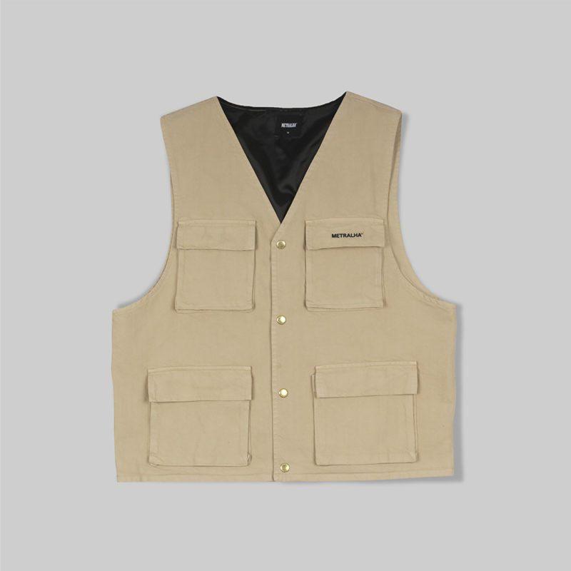 metralha-worldwide-denim-vest-beige-clothing-streetwear-limited-edition-online-store
