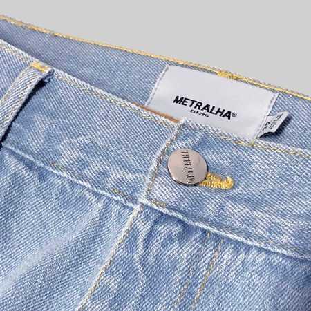 metralha worldwide dark blue jeans reflective back online store